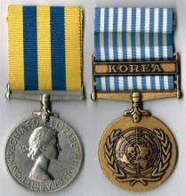 Elizabeth II Korea Medal 1950-1953 and United Nations Korea Medal 1950-1954 to Royal Ulster Rifles/Royal Inniskilling Fusiliers. (2)