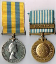 Elizabeth II Korea Medal 1950-1953 and United Nations Korea Medal 1950-1954 to 7th Royal Tank Regiment Royal Armoured Corps (2)