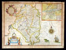 17th Century Map, John Speed, Leinster