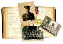1910-1912 6th Inniskilling Dragoons, album of ephemera.