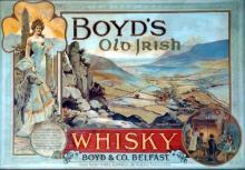 Boyd's Old Irish Whisky, framed advertising poster