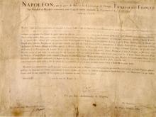1807 Document signed by Napoleon Bonaparte