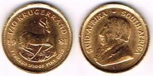 South Africa. One tenth gold Krugerrand 1981, also some Irish and British coins.