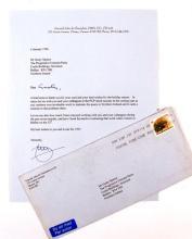 1996 (6 January) Letter from General John de Chastelain to Gusty Spence.