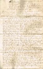 1662 Contract between Rt. Hon. Sir Maurice Eustace, Knight, Lord Chancellor of Ireland and