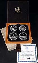 Canada. 1976 Olympic Games silver proof set. and other silver collectibles. (10)