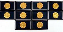 Vincent Van Gogh silver commemorative medals by Franklin Mint.