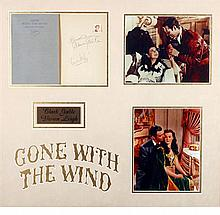 Gone With The Wind, Clark Gable and Vivien Leigh autographs.