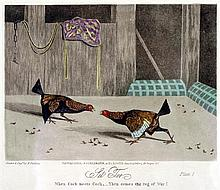 1840s A set of six cock-fighting prints