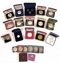 UK modern proof crowns or pounds collection.