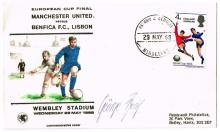 Football. 1968 (29 May) George Best autograph on European Cup Final commemorative envelope.