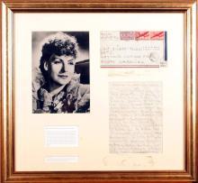 Greta Garbo, autograph letter.