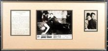 Laurel and Hardy. Signed photograph and hand written letter.