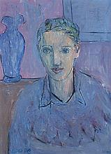 Lot 180: <b>Elizabeth Cope</b> (b.1952) SELF PORTRAIT - H2548-L89148989_mid