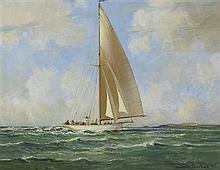 Maurice Canning Wilks RUA ARHA (1910-1984) SAILING OFF THE IRISH COAST