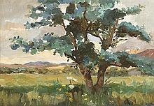 Nathaniel Hone RHA (1831-1917) TREE IN A LANDSCAPE
