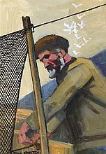 John Skelton (1923-2009) OLD DONEGAL NETMINDER, DUNGLOE, 2003