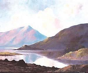 Douglas Alexander RHA (1871-1945) AT BALLINAHINCH CONNEMARA signed lower right; with original artist's label on reverse oil on canvas board 53
