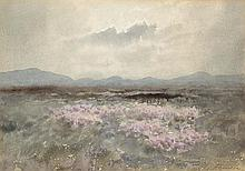 William Percy French (1854-1920) PURPLE HEATHERS AND MOUNTAINS