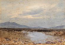 William Percy French (1854-1920) A BOG LAKE