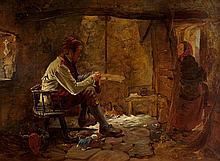 Erskine Nicol ARA RSA (1825-1904) HIS OWN FIRESIDE