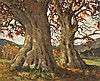 Mabel Young (1889-1974) ANCIENT TREES, POWERSCOURT, COUNTY WICKLOW