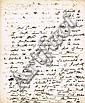 1791 (October 19) Henry Grattan handwritten and signed letter
