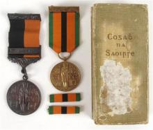 1917-21 War of Independence Service Medal with combatant's bar and 1971 Truce Anniversary Medal.