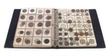 Collection in album with mixed ranges of copper and silver.