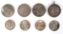 Silver coins of GB, USA and Ireland,