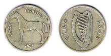 Collection of Irish coinage 1928 to 1968.