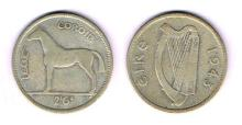 Collection of Irish coinage, 1928 to 1968, almost complete.