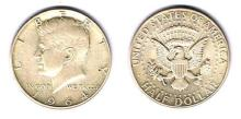 USA. President Kennedy half dollar, 1964 and later accumulation.