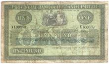 Provincial Bank of Ireland One Pound 1st August 1919