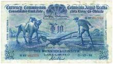 Currency Commission Consolidated Banknote 'Ploughman' Munster & Leinster Bank Ten Pounds 5-12-31