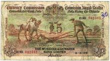 Currency Commission Consolidated Banknote 'Ploughman' Munster & Leinster Bank Five Pounds 6-5-29
