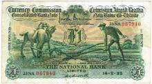 Currency Commission Consolidated Banknote 'Ploughman' National Bank 14-2-35