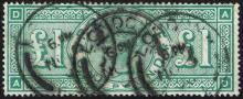 Great Britain. 1887-92 Jubilee £1 green.