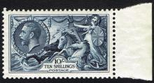 Great Britain. 1934 Seahorse, re-engraved issue, 10s.