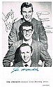 Buddy Holly and The Crickets: Autographed promotional card 1958