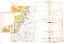 1911-1925 Maps of Ireland showing Irish speaking regions.