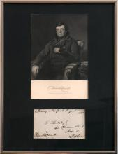 1833 Daniel O'Connell, signed Free post cover
