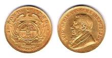 South Africa. Republic gold one pond, 1897 and 1898.