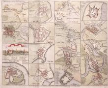 1759 Plans of the Principal Ports, Towns and Harbours of Ireland for Mr.Tindall's Continuation of Mr Rapin's History.