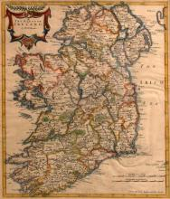 17th century map, Robert Morden, The Kingdom of Ireland.