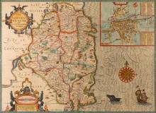 17th Century, John Speed, map of Leinster.