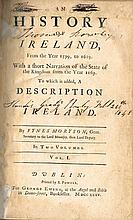 Moryson, Fynes. An History of Ireland from the Year 1599, to 1603....