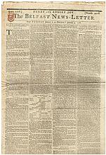 1778 to 1972 small collection of Irish newspapers of historical interest.