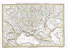 1785-1827. Russia & Poland. A collection of 5 Hand Coloured Maps.