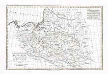 1766-1786. A collection of 7 Eighteenth Century Hand Coloured Maps of Poland